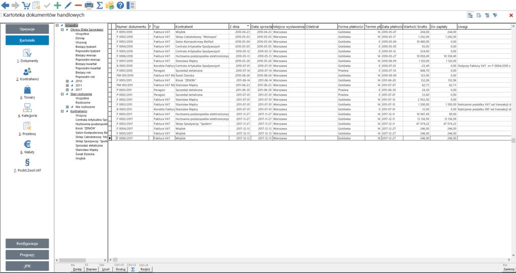 Rejestr dokumentów handlowych